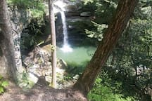 Flat Lick Falls, only a 15 minute drive