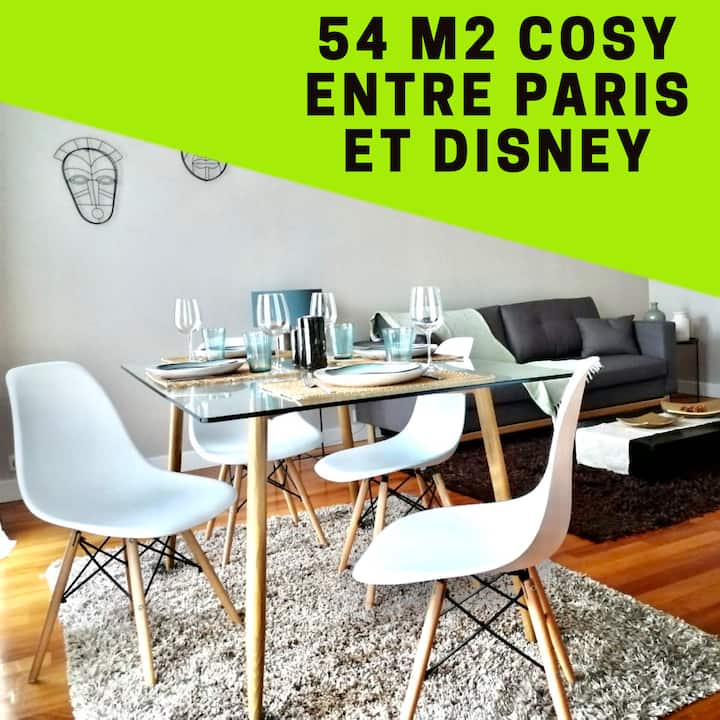 ⭐️Calme & Cosy ⭐️entre Paris& Disney  vallée Village