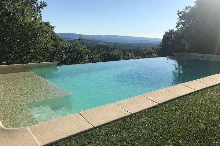 Villa avec vue imprenable sur le Luberon