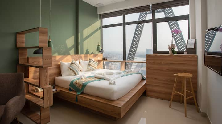 Nordic Style Apartment @ City Center w Mekong View