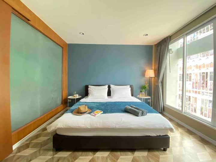 * Large Unit Bangkok Amazing Homey Choice 2BR WiFi