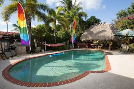 Private Entrance  POOL & waterfalls - Fort Lauderdale