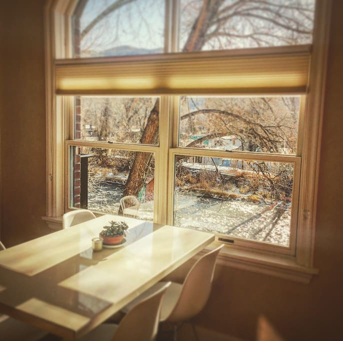 Kitchen Table overlooking river