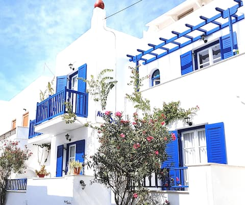 150 m from sea&Naxos,Studios Nostos,semi basement1