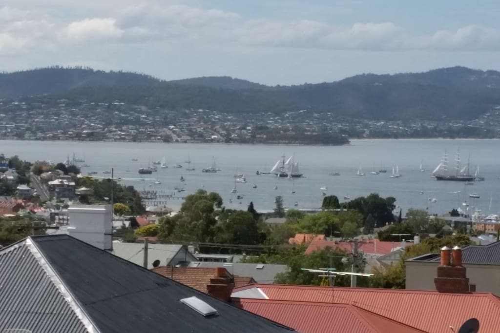 What a view !!!, Relax and enjoy the unobstructed views of the Derwent River .