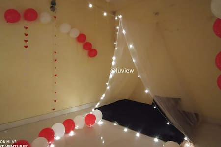 Couple's Canopy with Romantic Lightning décoration
