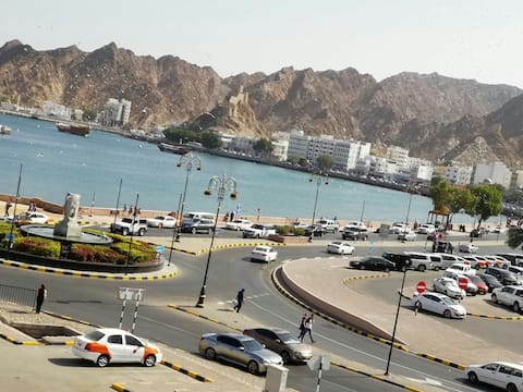 Muscat Oman private big studio room with sea view