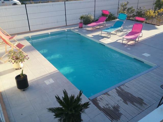 Villa avec piscine privée proche des plages - Alenya - Hus