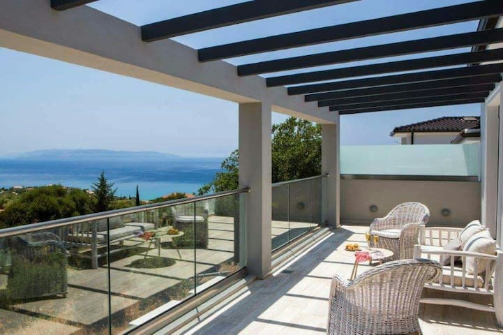 New villa,private pool & lovely view in Kefalonia