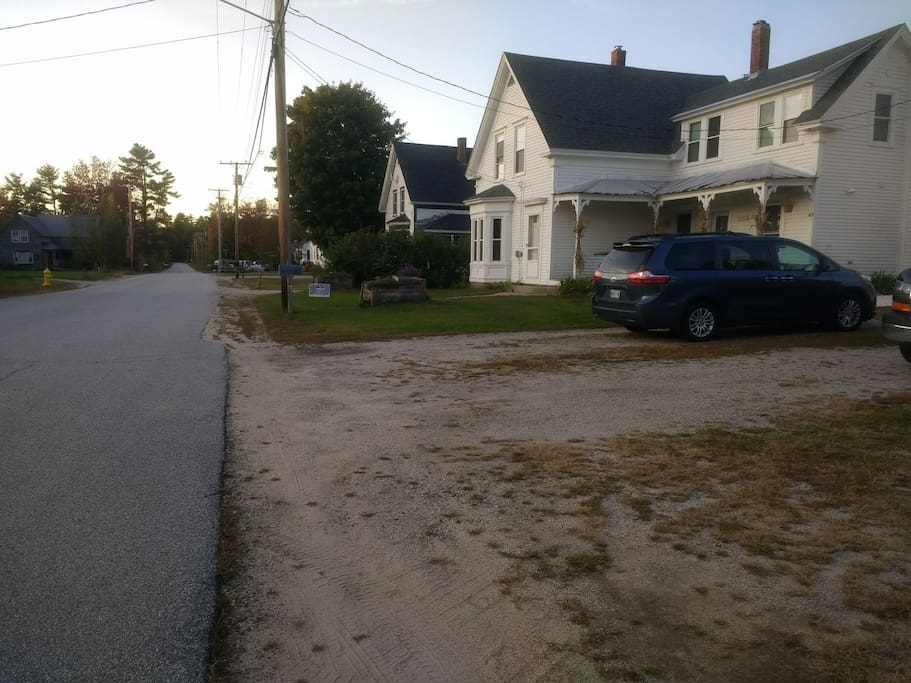 View of our house from the road