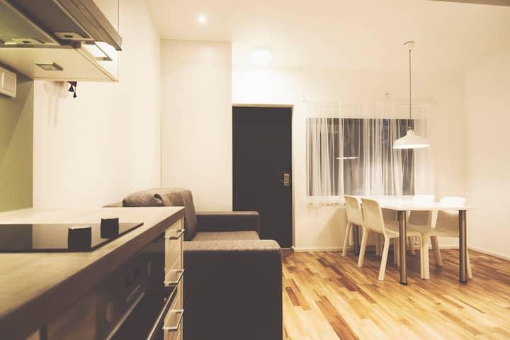 Nybyggda stugor för långtidsboende nära Stockholm