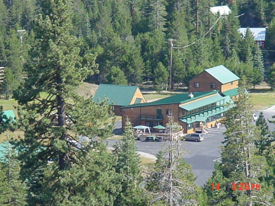 Bird Eye View of Tamarack Lodge at Bear Valley.