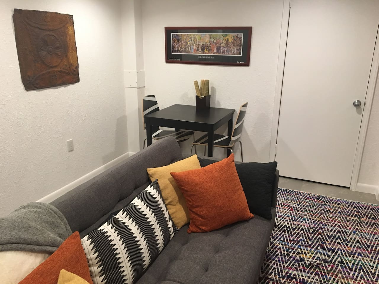 Living room - work/dinette table and chairs