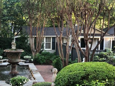 Havehus i den gamle bydel i Huntsville centrum