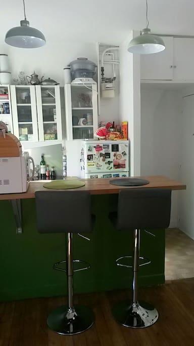 The shining kitchen countertop