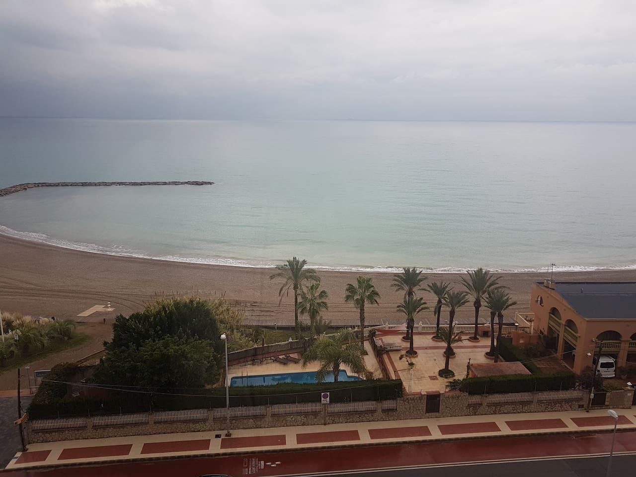 Vistas desde la habitación 2 Primera línea de playa