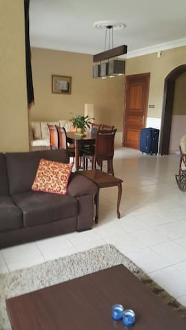 Furnished apartment with big nice balcony