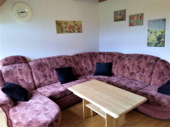 Ferienwohnung Sägehof, (Hornberg), Ferienwohnung Weiherblick, 45qm, 1 Schlafzimmer, max. 4 Personen