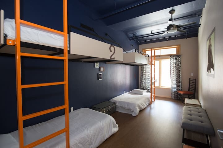 "The Bunkhouse.  A designer hostel. ""Quad Room"""