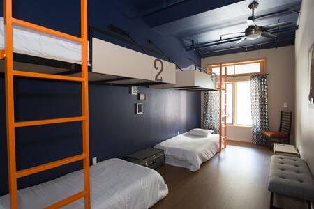 """The Bunkhouse.  A designer hostel. """"Quad Room"""""""