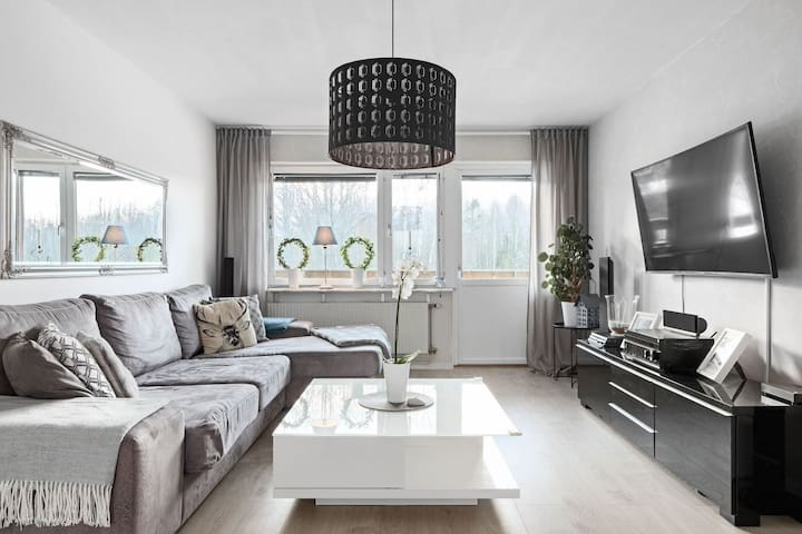 Townhouse apartment with a Swedish Villa-Feeling