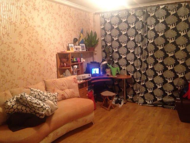 Уютная большая комната с адекватными соседями - Sankt-Peterburg - Apartemen