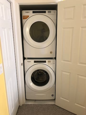New full size washer and dryer. Bring your own detergent.