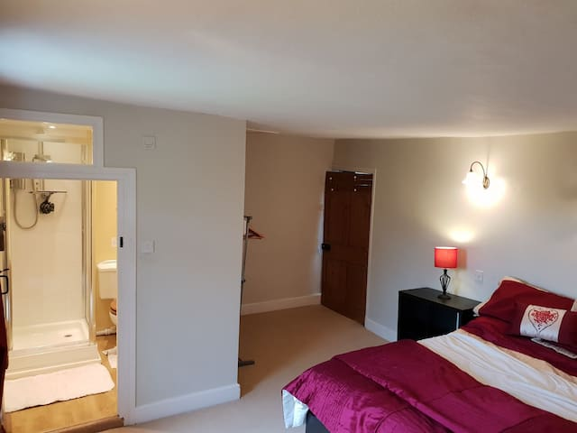 Private double bedroom 1 with en suite