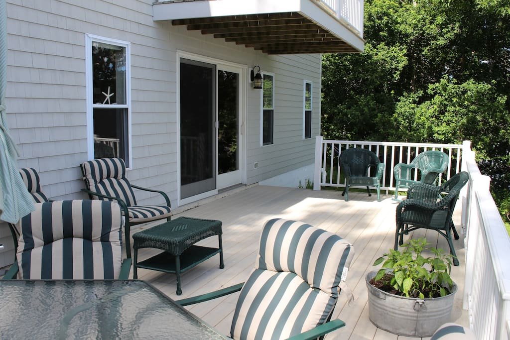 Plenty of seats to enjoy the view on your own deck.