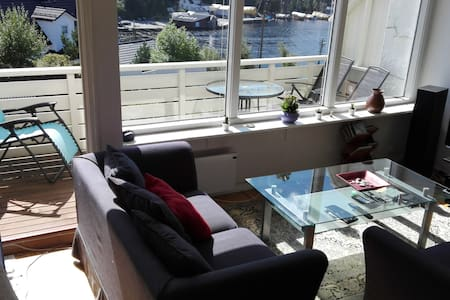 Beautiful sea view Straume Bridge - room B - Bergen