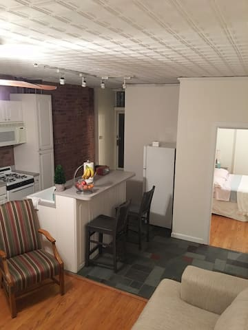 Cozy 1 bedrm apt, backyard, steps to Washington St - Hoboken - Appartement