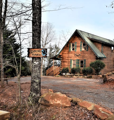 Ultimate Log Cabin Experience + BREATHTAKING Views