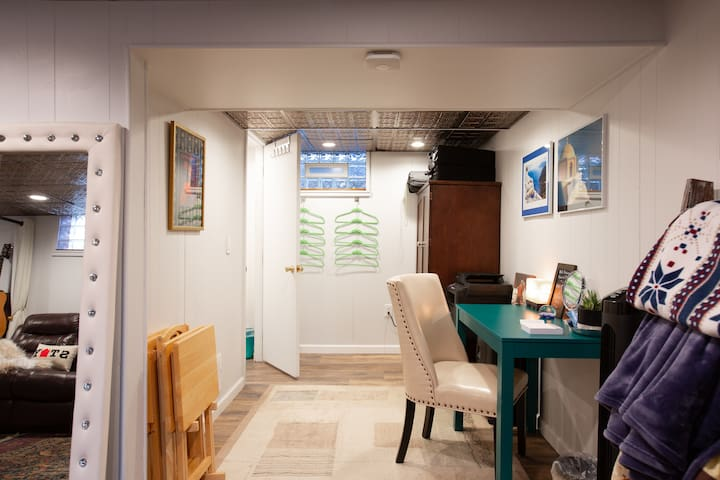 Work space for business travelers.