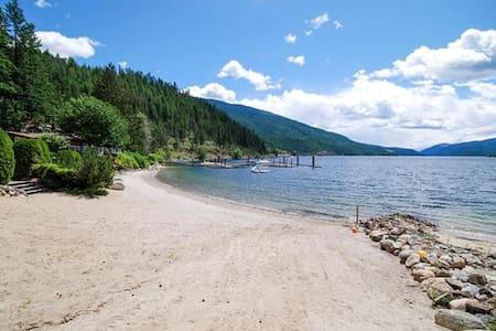 Waterfront cabin on popular Mara Lake in Shuswap.