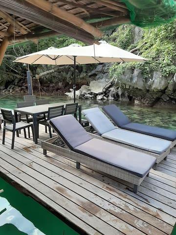 private deck/platform