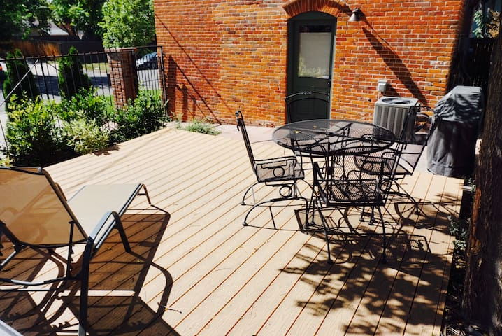 """The outdoor area was a huge plus!...The patio area was great for morning coffee...I truly hope your place is available every time we come back to Denver...This has been by far my best Airbnb experience as a guest."""