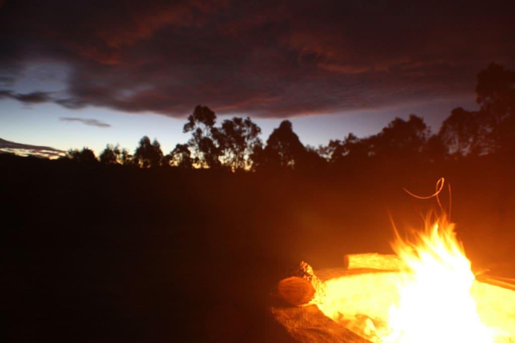 Enjoy a fire under the stars in your  fire pit