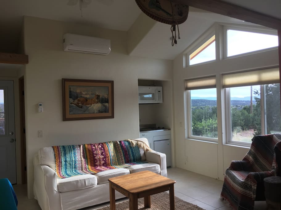 A cozy comfortable space with a great view!