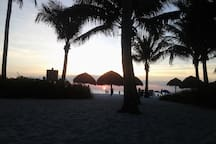 Where to explore:  Beach scene from the Naples Hotel & Golf Club--best chickee bar & sunset