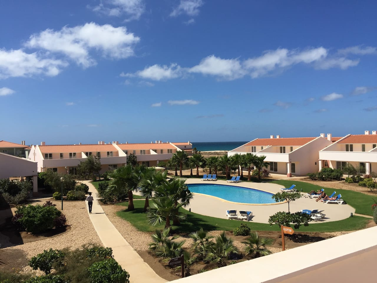 Stunning 3 bed villa with sea and pool views. This is the view from the balcony.