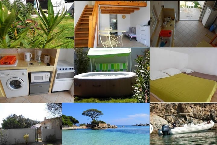 Studio avec mezzanine proche plages - Sotta