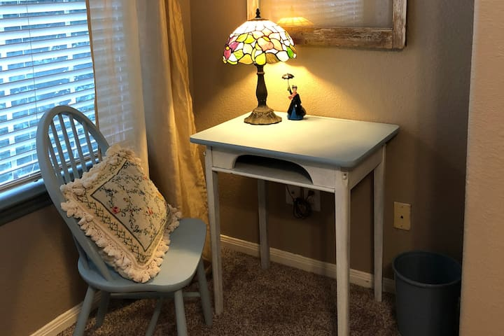 Practically Perfect small desk for your laptop or docking station.