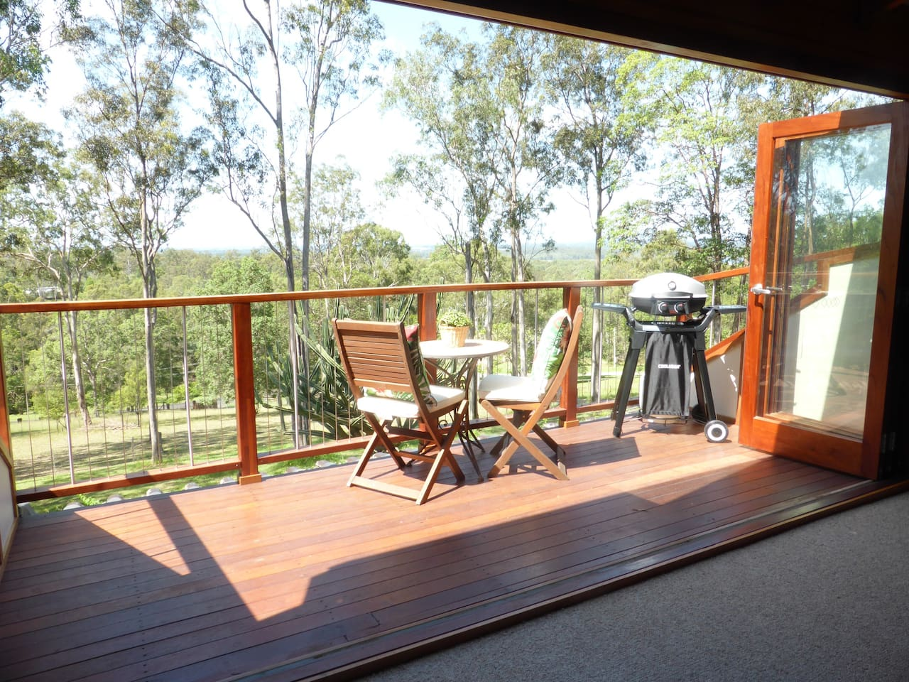 Private balcony with awesome views! Enjoy relaxing and BBQ.