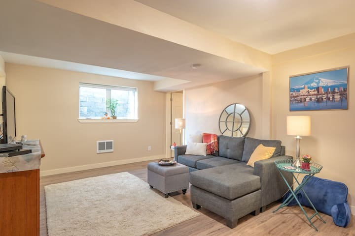 Brand new basement apartment with lots of natural light from big windows