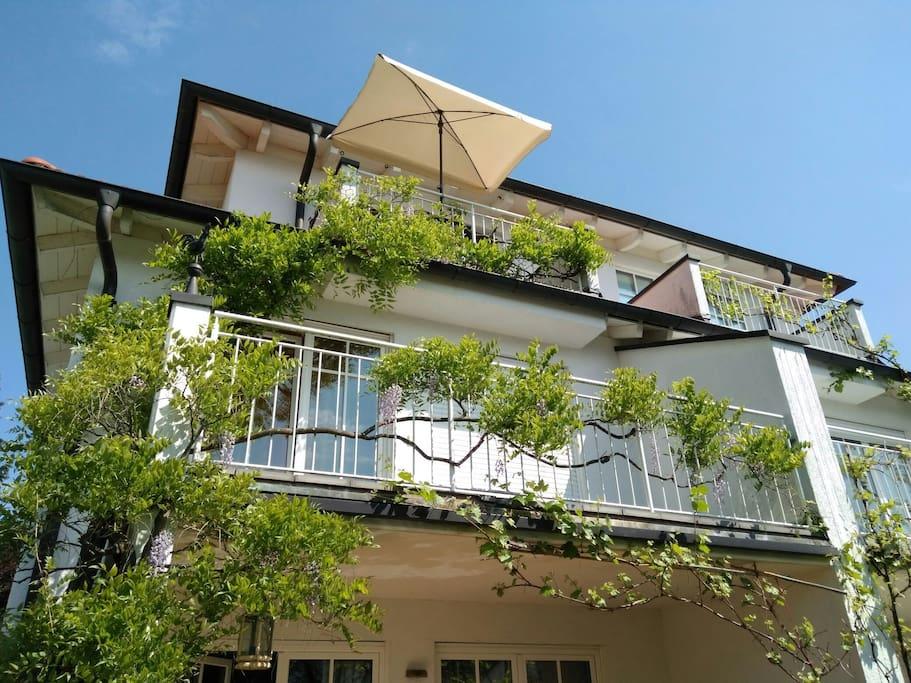 Apartment, 2 Zimmer mit eigenem Bad und Südbalkon im 2. Stock, Dachgeschoss