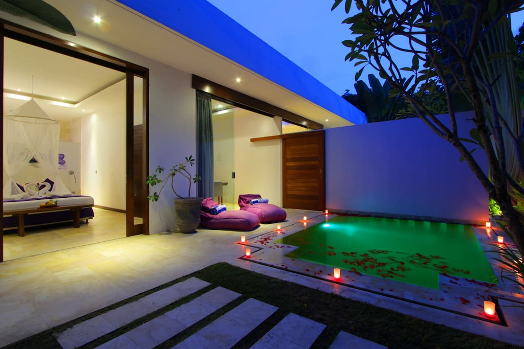 Night Scene Private Villa