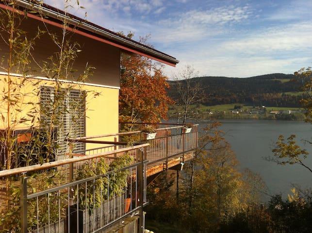 1 chambre (orange) au bord du lac de Joux - Le Lieu - Pensione