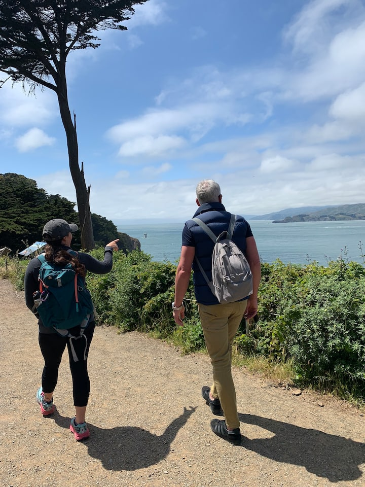 Looking for whales on the coastal trail