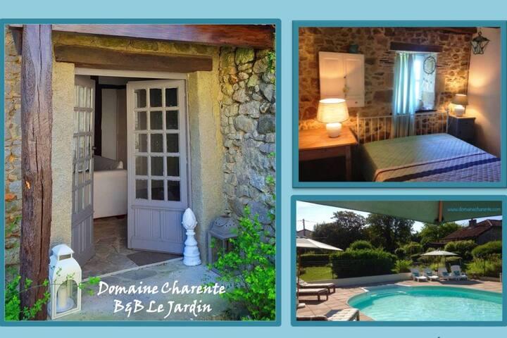 Familiekamer Le Jardin: gebruik zwembad & terras