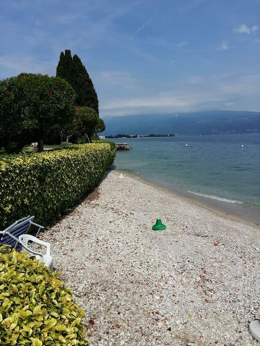 Spiaggetta privata davanti al residence